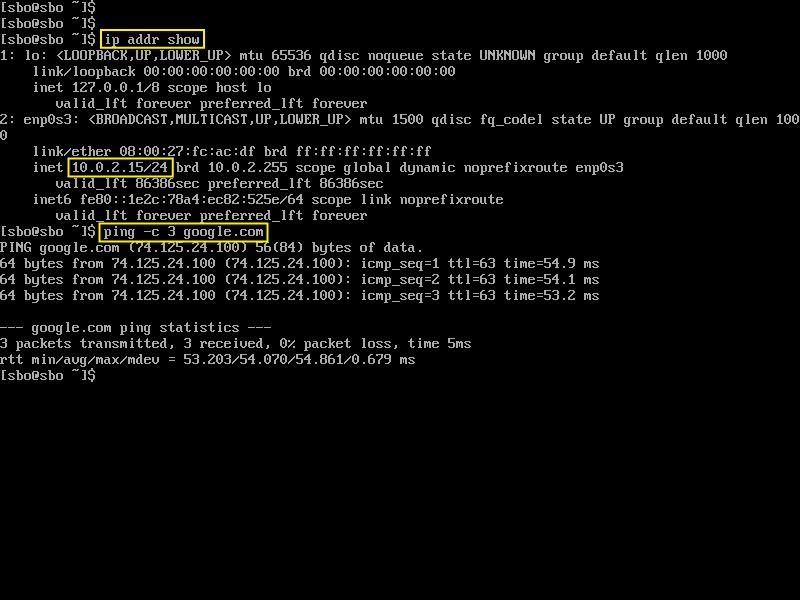 DHCP Internet