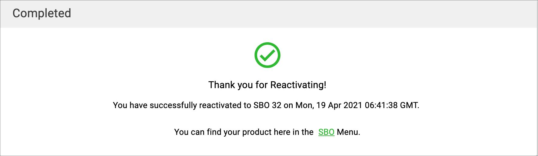 SBO Reactivation Process 10